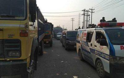 ঢাকা-টাঙ্গাইল মহাসড়কে ৪০ কিলোমিটার যানজট